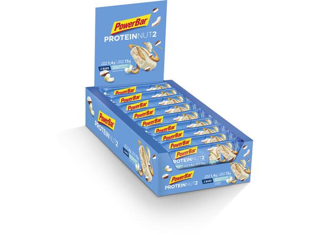 PowerBar Protein Nut 2 Bar Box 18x2x22,5g, Milk White Chocolate Coconut